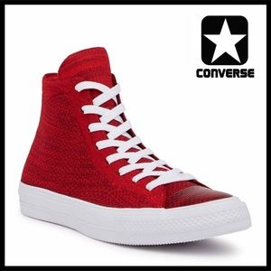 CONVERSE CHUCK TAYLOR FLYKNIT HIGH TOPS SNEAKERS